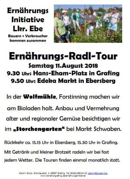 Ernährungs-Radl-Tour 11.8.18